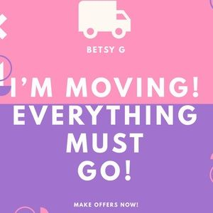 ✨🌟💫MOVING! MAKE OFFERS & BUNDLE NOW!✨⚡️⭐️
